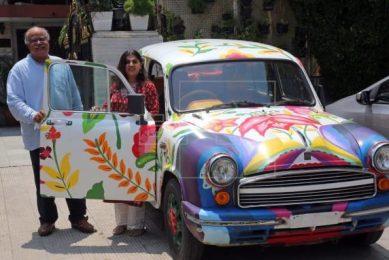 Ambassador car designed by Mexican artist