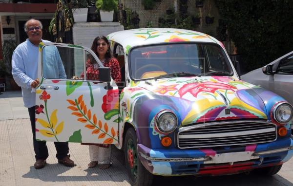 Ambassador car designed by Mexican artist